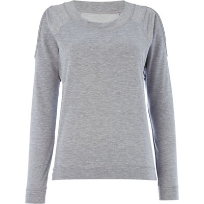 Label Lab Cold shoulder sweat top, Grey Marl