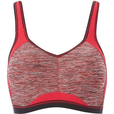 Freya Epic underwired crop top sports bra, Cherry