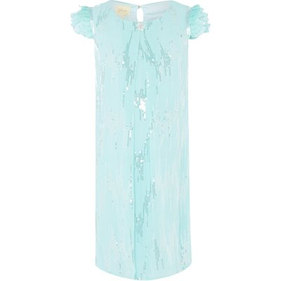 Disney The Boutique Collection Girls Elsa Scattered Sequin Dress, Ice Blue