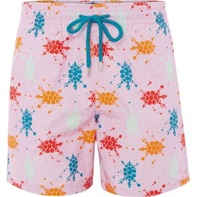Men's Vilebrequin Japan Turtle Print Shorts, Pink