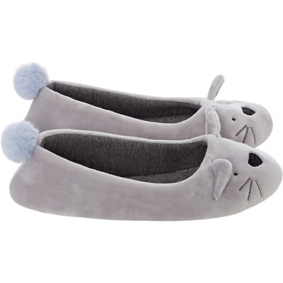 Therapy Cats fluffy slipper, Grey