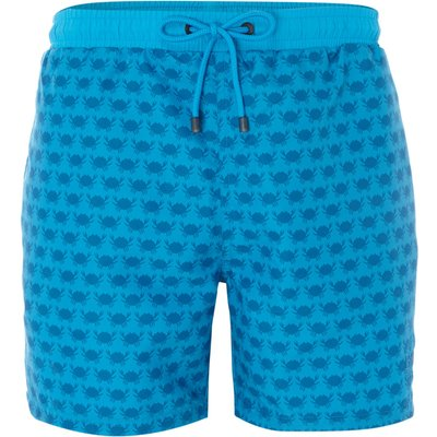 Men's Hugo Boss Pirahna Crab Print Swim Shorts, Blue