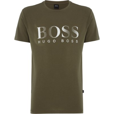 Men's Hugo Boss Side Logo T Shirt, Khaki