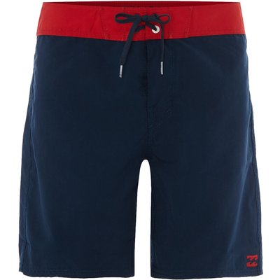 Men's Billabong 17 Contrast Waistband Boardshort, Blue & Red