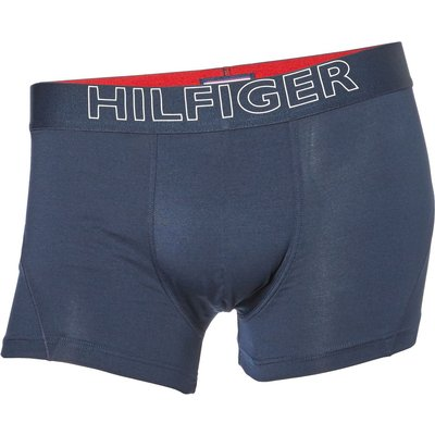 Men's Tommy Hilfiger 1 Pack Contrast Waistband Trunk, Blue