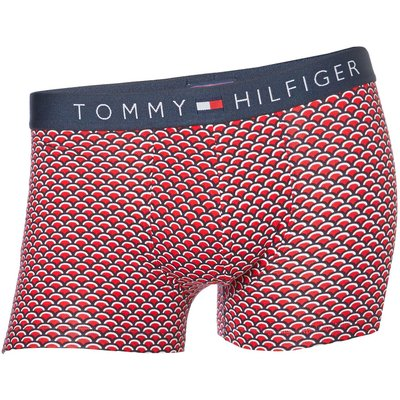 Men's Tommy Hilfiger 1 Pack Retro Gro Print Trunk, Red