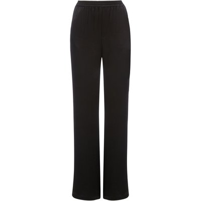 Another Label Dow Satin Trousers, Black