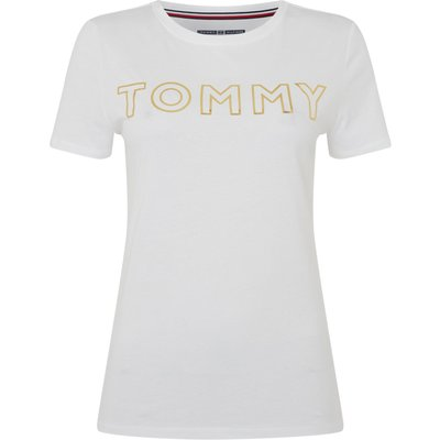 Tommy Hilfiger TS GOLD LOGO TEE, White