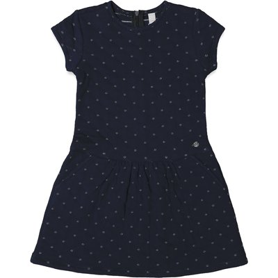 Esprit Girls Quilted Dress with Pockets, Blue