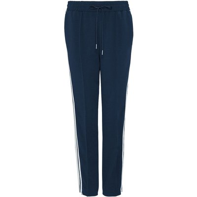 Hallhuber Tracksuit Trousers with Side Ribbons, Blue
