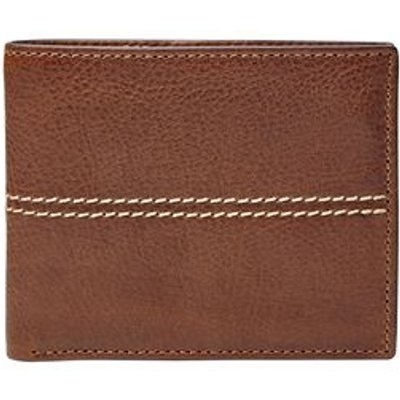 Fossil Turk rfid-blocking flip id bifold, Dark Brown