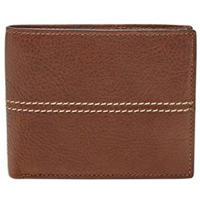 Fossil Turk blocking large coin pocket bifold, Dark Brown
