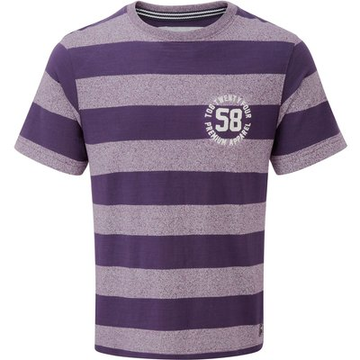 Men's Tog 24 Miller mens deluxe stripe t-shirt, Plum