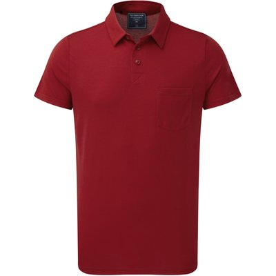 Men's Tog 24 Xant Mens Dri-Release Wool Polo Shirt, Red