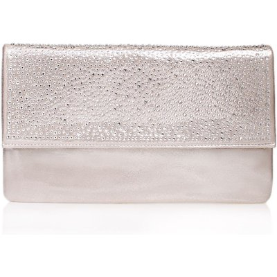 Carvela Desire clutch bag, Silver