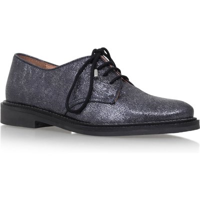 KG Kidd flat lace up brogues, Silver