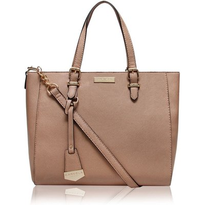 Carvela Dina winged mini tote bag, Nude