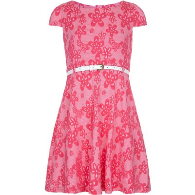 Yumi Girls Girls Floral Print Day Dress, Pink