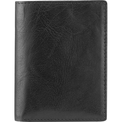 Skopes Small black leather wallet, Black