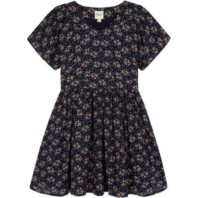 Yumi Girls Ditsy Floral Print Day Dress, Blue
