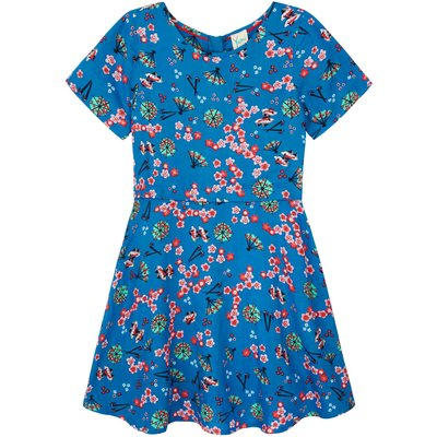 Yumi Girls Printed Japanese Day Dress, Blue