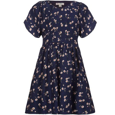 Yumi Girls Floral Print Dress, Blue