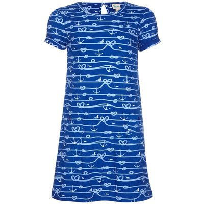 Yumi Girls Anchor Tunic Dress, Blue