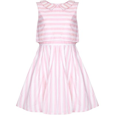 Yumi Girls Candy Stripe Collar Dress, Pink