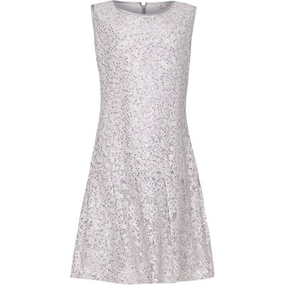 Yumi Girls Drop Waist Lace Dress, Grey