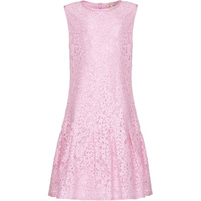Yumi Girls Drop Waist Lace Dress, Pink