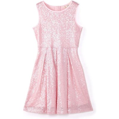 Yumi Girls Sequin Party Dress, Pink