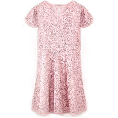 Yumi Girls Lace Short Sleeve Occasion Dress, Multi-Coloured