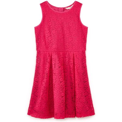 Yumi Girls Floral Lace Dress, Pink