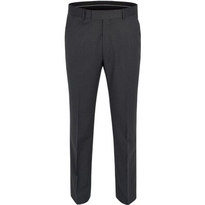 Men's Pierre Cardin Twill formal suit trousers, Charcoal