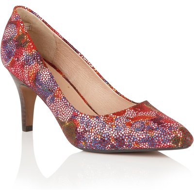 Lotus Amaranta floral print loafers, Multi-Coloured