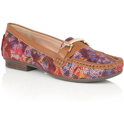 Lotus Albena floral print loafers, Multi-Coloured