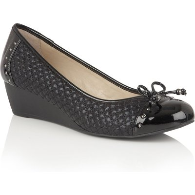 Lotus Chenatta casual wedges, Black