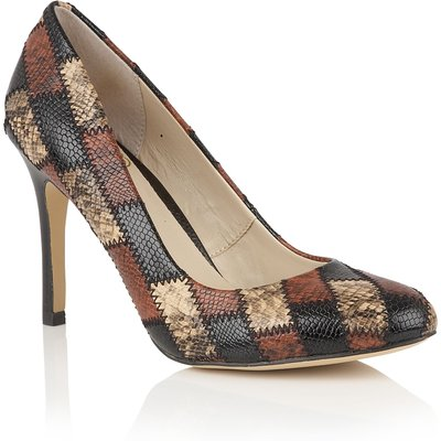 Lotus Ette animal print courts, Brown