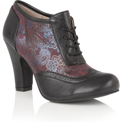 Lotus Hallmark Kale lace up shoe boots, Black
