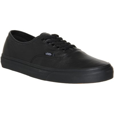 Vans Authentic Leather Trainer, Black