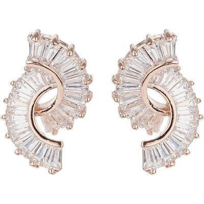 Mikey Twin curved baugette swing earring, N/A