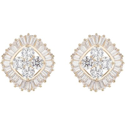 Mikey Twin square baugette edged earring, N/A
