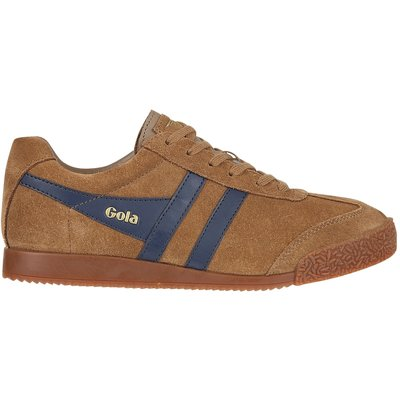 Gola Harrier suede tobacco/navy trainers, Brown