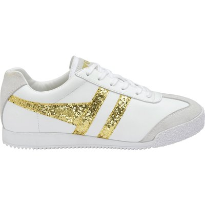 Gola Harrier glitter lace up trainers, White Gold