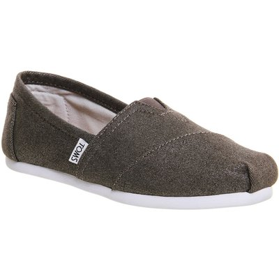Toms Seasonal classic slip on pumps, Silver