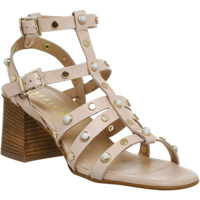 Office Margate Studded Toe Post Sandals, Nude