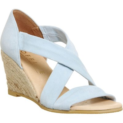 Office Maiden cross strap wedge Sandals, Blue