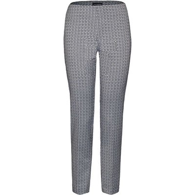 James Lakeland Geometric Jacquard Trousers, Black