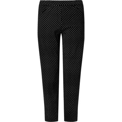 James Lakeland Long Patterened Trousers, Black