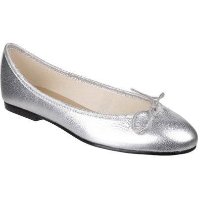 French Sole India ballerina pumps, Silver